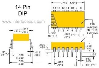Glossary of Electronic Resistor Networks, 14-pin DIP Resistor Package