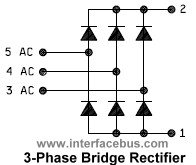 3-phase Full Wave Bridge Rectifier