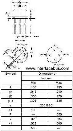 4-Terminal TO-39 Transistor Package Dimensions