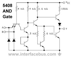 Detail schematic of a 5408 AND gate