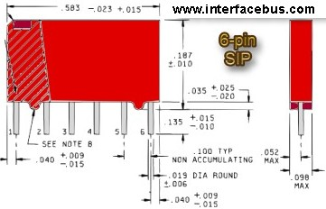 6-pin SIP IC package