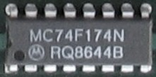 DIP 74F174 Hex Flip Flop IC picture