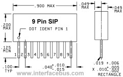 9 pin resistor network package dimensions