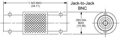 BNC Jack to Jack Adapter
