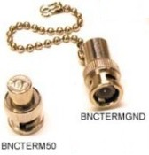 Picture of BNC 50 ohm Terminator and BNC Ground Terminator