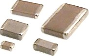Different sizes of surface mount chip capacitors