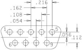 9-pin Dsub MIL24308 Connector