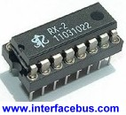 16-pin DIP IC in Socket