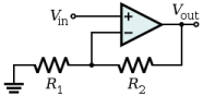 Non-Inverting Op-Amp Schematic
