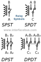 glossary of electronic and engineering terms relay rh interfacebus com relay electronic symbols relay schematics symbols