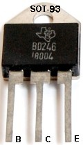 BD246 SOT-93 Transistor Picture