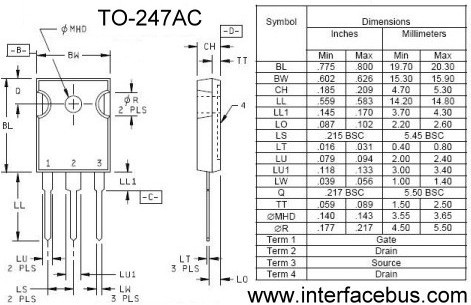TO-247 Package out line and TO-247AC Dimensions