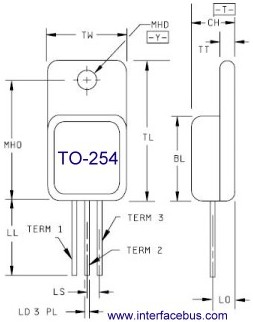 TO-254 Case Drawing