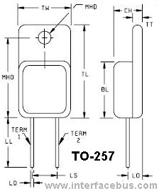 2-Terminal TO-257 Diode Package