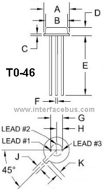 TO-46 Through Hole Transistor Package