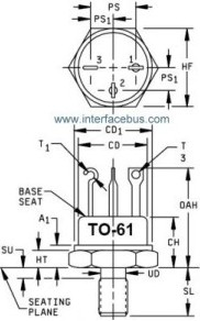 TO-61 package drawing
