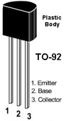 TO-92 Graphic and lead identification