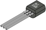 PNP BC558 transistor in a TO92 package
