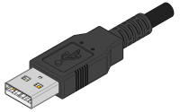 USB Type A Molded Connector Cable End