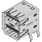 Stacked USB Type A Connector pinout