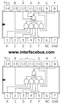 5454IC, Dual AND-OR Gate Functional Schematic