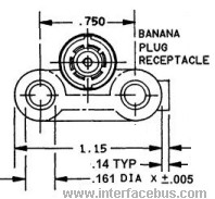 Female Banana Jack Connector, rear view