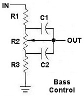 Normal Audio Base Control with shunt capacitors