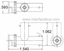 Offset Tee Connector Male-to-Female-to-Female
