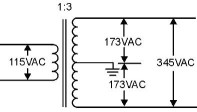 Center-tapped Transformer Circuit