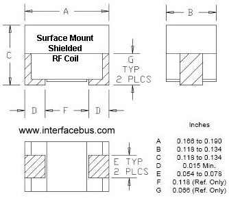 Surface Mount Chip Inductor Package Dimensions