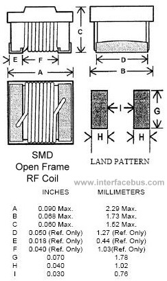 SMD Inductor Package Dimensions