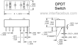 Double-Pole Double-Throw Rocker DIP Switch Package