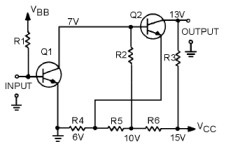 Direct Coupled Transistor Amplifier Circuit