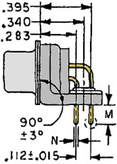 Right Angle 78-pin Physical Dimensions
