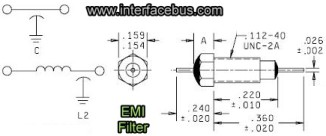 EMI Feed-Thru Filter Diagram