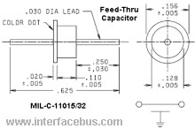 Case Out-line of a 2-Terminal Feed-thru Capacitor