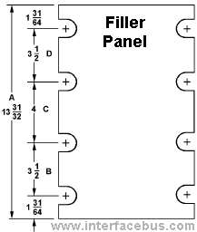 Filler Panel Slot Sizes