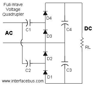 Full-Wave Voltage Quadrupler