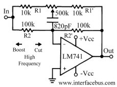 High Frequency Equalizer Circuit Design using a 741 Op-Amp