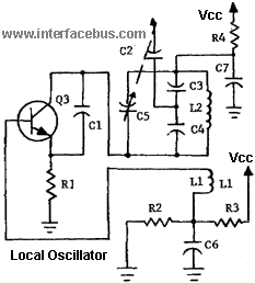 Transistor Armstrong Oscillator used as a local oscillator