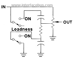 Audio Loudness Control Schematic Diagram