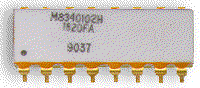 Through-hole DIP package for MIL Spec MIL-PRF-83401 network resistors