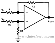 Op-Amp Difference Amplifier Configuration