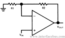 Op-Amp Non-Inverting Amplifier Configuration