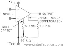 Operation Amplifier Off-Set Null Compensation