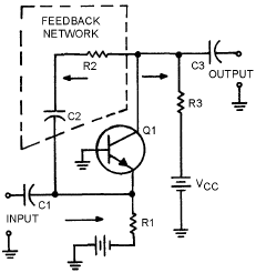 Transistor amplifier using positive feedback