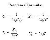 Formulars for serial impedance and parallel impedance