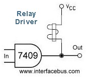 Open Collector Relay Driver Schematic