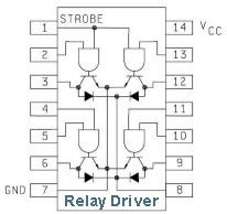 4-Output Integrated Circuit Relay Driver IC Schematic