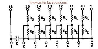 Resistor Termination Network, parallel